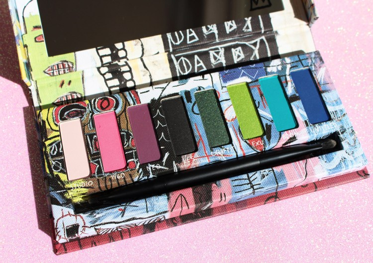 Collection Basquiat d'Urban Decay Palette Fards à paupières Rouge à Lèvres blog swatch