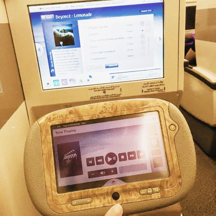 voyage en Business Emirates mon avis la classe affaire A380 blog Beyoncé