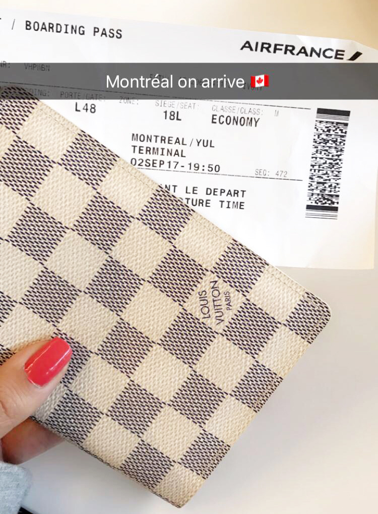 La jolie couverture de passeport Louis Vuitton Damier Azur avis blog