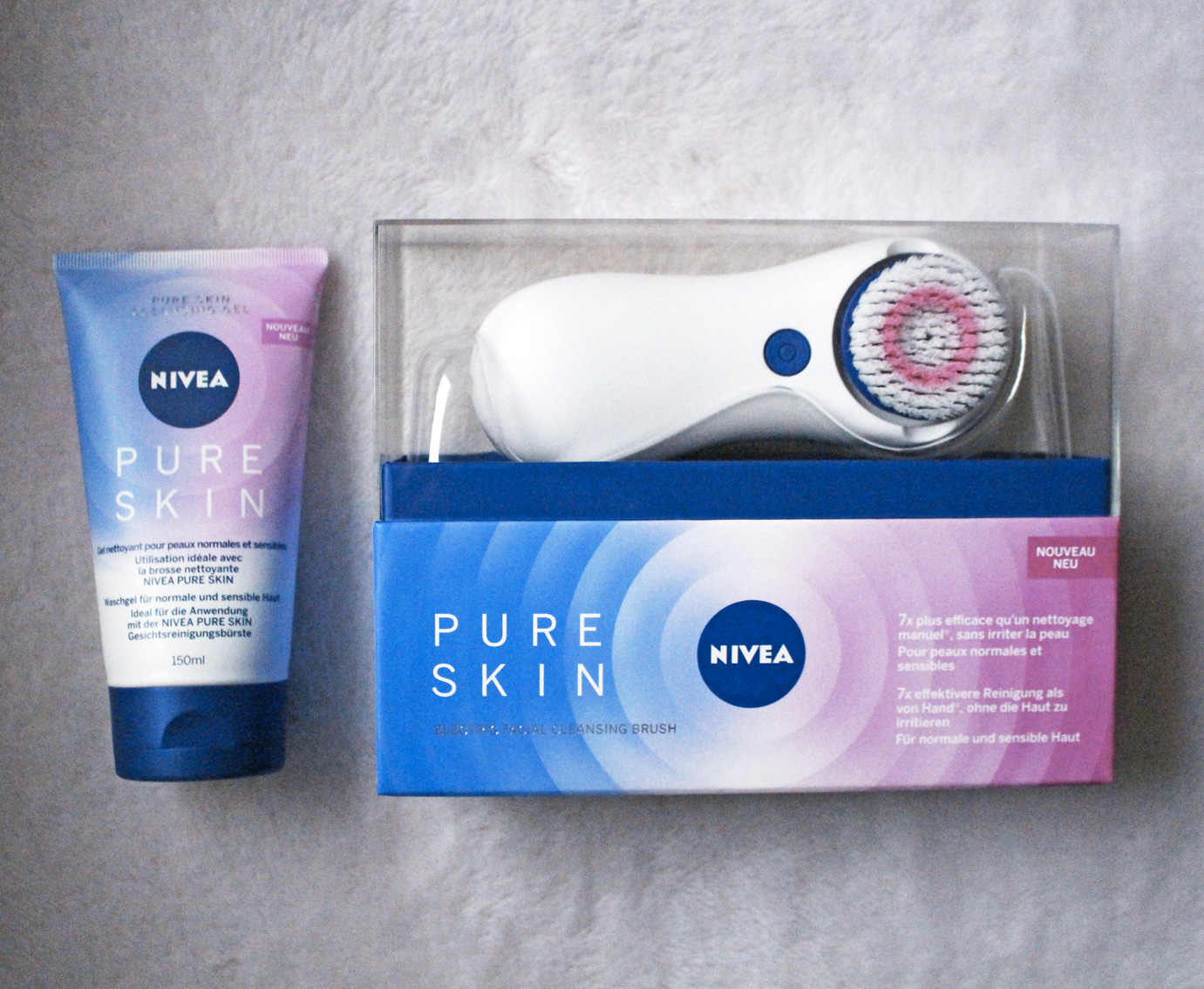 la brosse nettoyante pure skin de nivea dans mon sac de fille. Black Bedroom Furniture Sets. Home Design Ideas