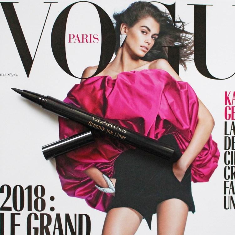 Eyeliner Graphik collection maquillage Automne Hiver 2017 de Clarins avis blog dans mon sac de fille