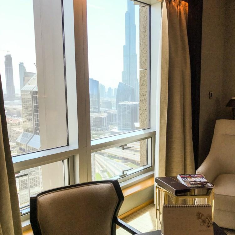 Mon séjour à l'hôtel Shangri-La de Dubaï avis blog chambre