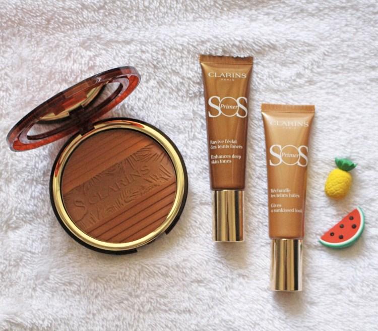 La jolie collection maquillage Hâle d'été 2018 de Clarins sos primer bronze mocha poudre de soleil avis blog swatch photo