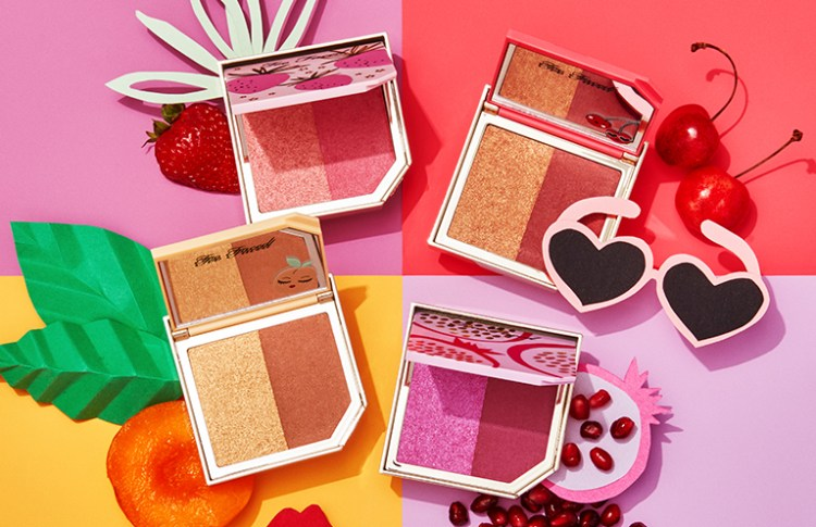 Tutti Frutti la nouvelle collection maquillage de Too Faced palette Le duo d'highlighter & de bronzer Pineapple Paradise Cherry Bomb  avis blog