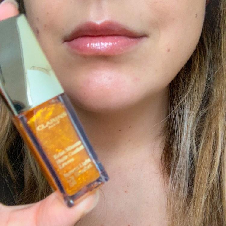 La collection maquillage de Noël prête-à-briller Clarins huile éclat minute honey glam avis blog