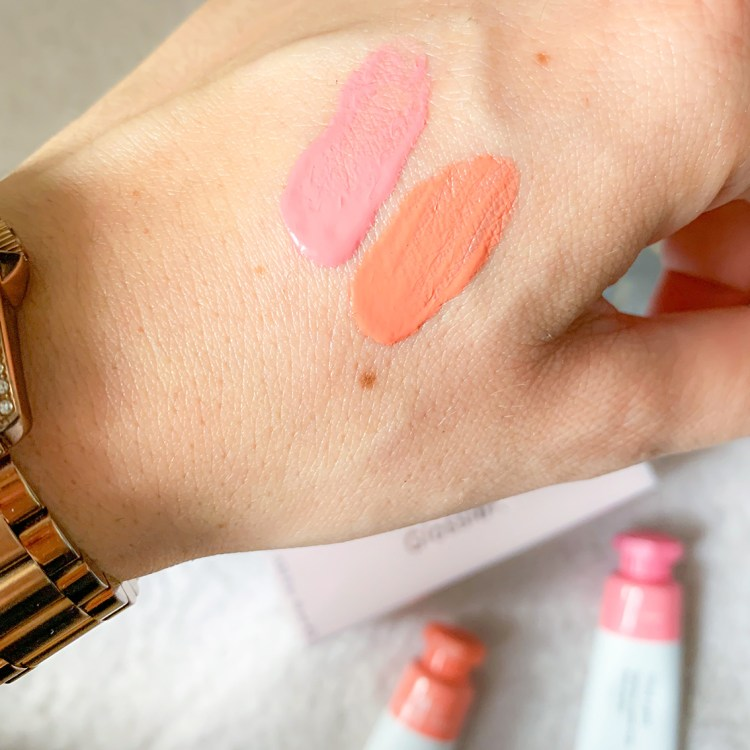 Mon avis sur les blushs Cloud Paint de Glossier swatch test blog france