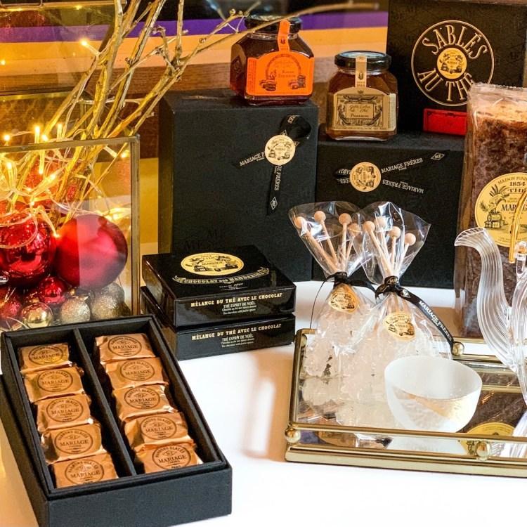 La collection de Noël Mariage Frères avis blog coffret cadeau thé marrons glacés