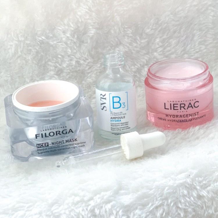 Pourquoi utiliser une crème et un sérum à l'acide hyaluronique lierac Hydragenist ampoule b svr ncef night mask filorga