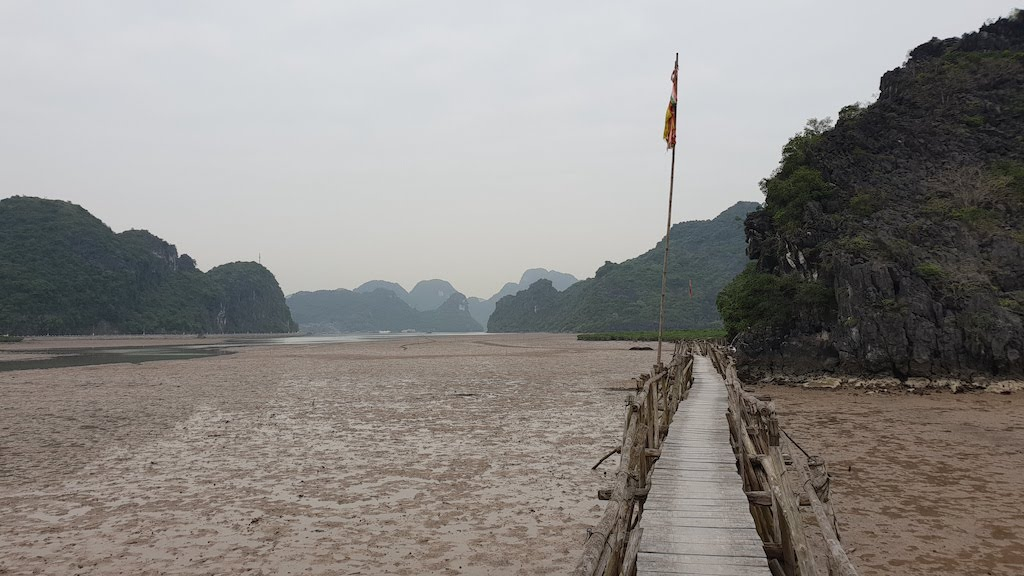 Wooden bridge Cat Ba
