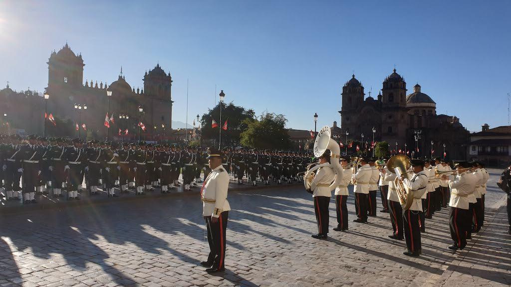 Répétitions fête nationale Cusco