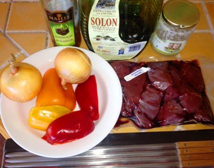 Ingredients brochettes viande orignal