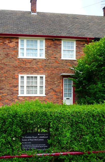 Maison enfance Paul McCartney - 20 Forthlin Road Liverpool