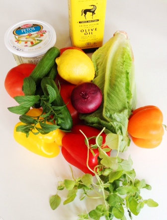 Ingredient salade grecque