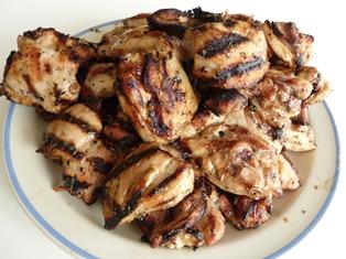 haut cuisse poulet cuit bbq