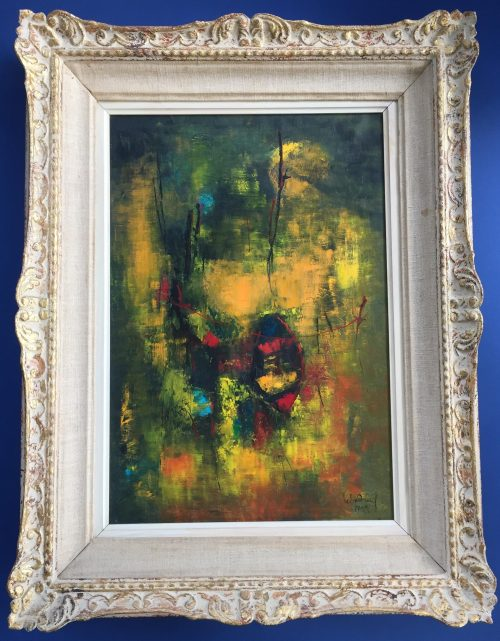abstract painting by artist Hoi Lebadang for sale
