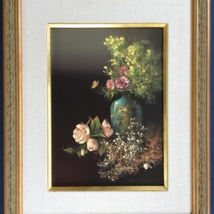 still life painting of flowers done by artist Tom Nicholas for sale
