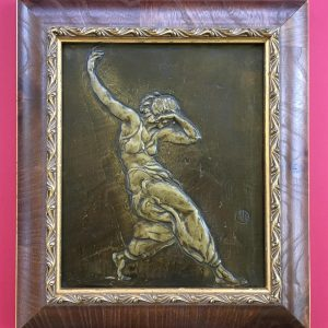 Bronze relief French sculpture by Henri Navarre