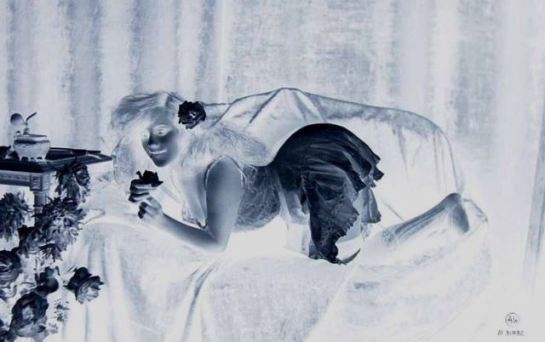 Jean Angelou. 1 Glass négative photo vers 1900
