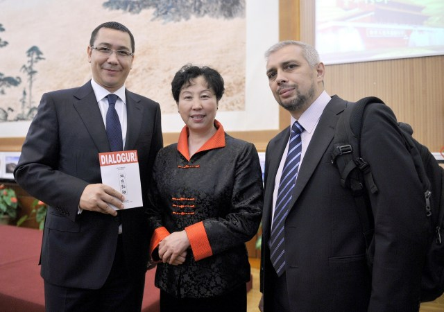 Dialoguri la Beijing cu Premierul Victor Ponta si Ambasadorarea Huo Yuzhen 30.09.2013