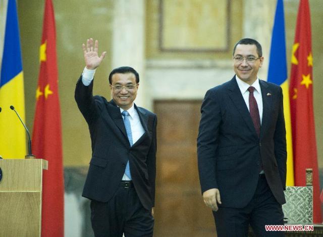 Li Keqiang - Victor Ponta, Bucuresti 25.11.2013