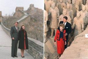 Pe Marele Zid Nancy si Ronald Reagan