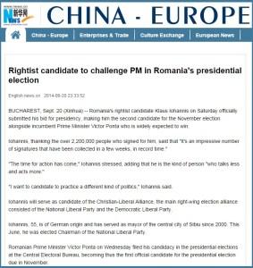 XINHUA - Candidatul dreaptei il provoaca pe prim-ministru