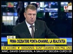 Confruntare Klaus Iohannis - Victor Ponta, 11.11.2014 Iohannis