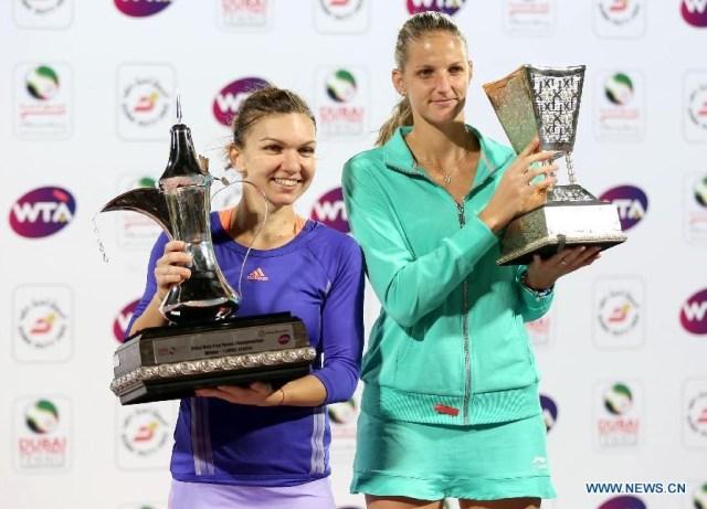 Halep a invins-o pe Pliskova la WTA Dubai 1