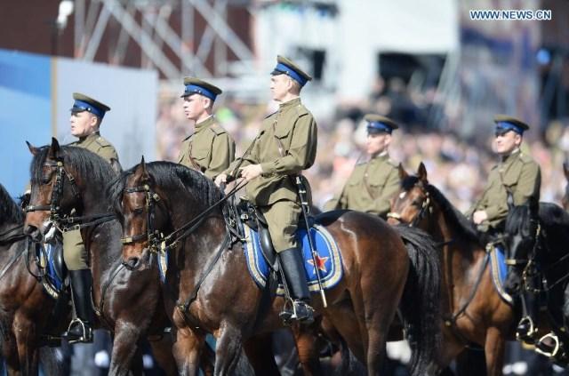 The Kremlin Cavalry Escort Battalion, Moscova 9 mai 2015