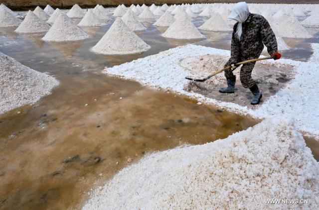 1 Exploatarea de sare satul Yanchi, provincia Gansu