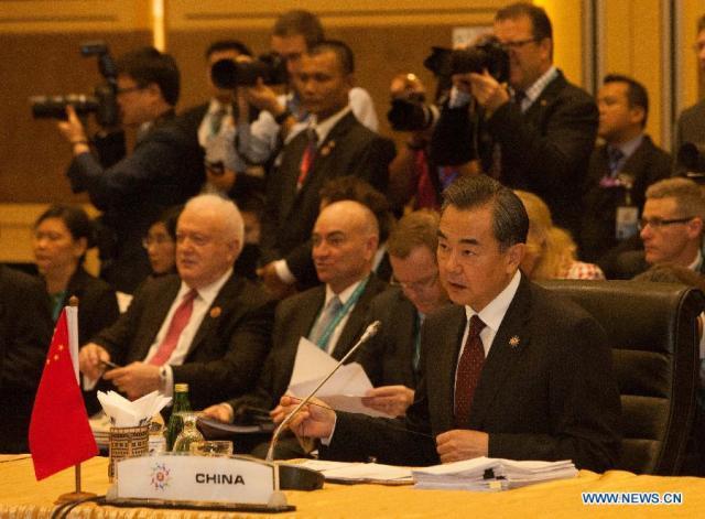 Wang Yi, ministrul chinez de  Externe, Kuala Lumpur 6 august 2015