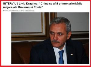 Interviu_Dan Tomozei - Liviu Dragnea, Beijing 23.03.2014