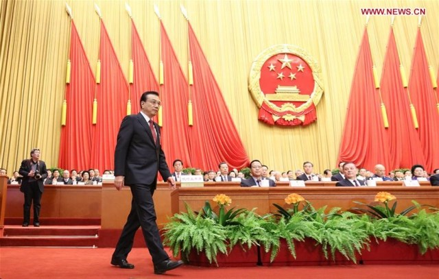 Li Keqiang, sesiunile anuale 2016 2