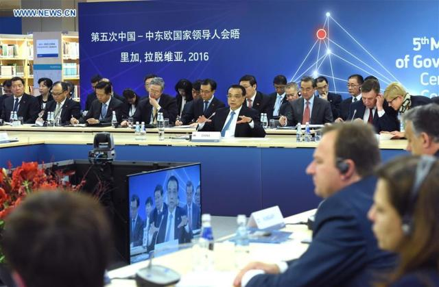 Li Keqiang, China-ECE - Riga 05.11.2016