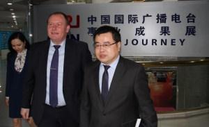 Ambasadorul Republicii Moldova in vizita la Radio China International 6