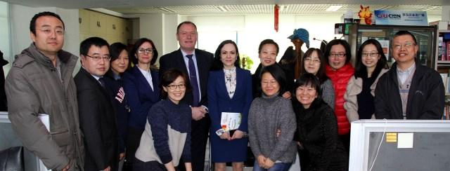 Ambasadorul Republicii Moldova in vizita la Radio China International 7