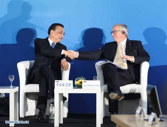 Li Keqiang, Jean-Claude Juncker_2 iunie 2017, Bruxelles