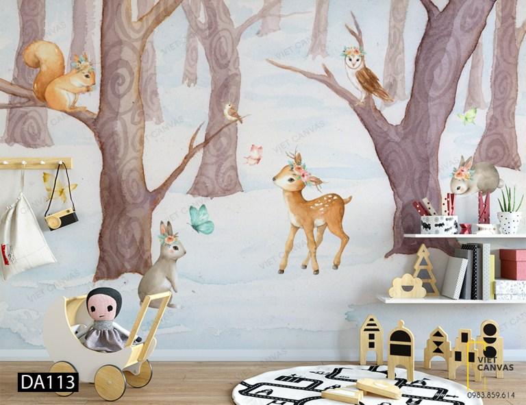 Tranh dán tường phòng ngủ trẻ em