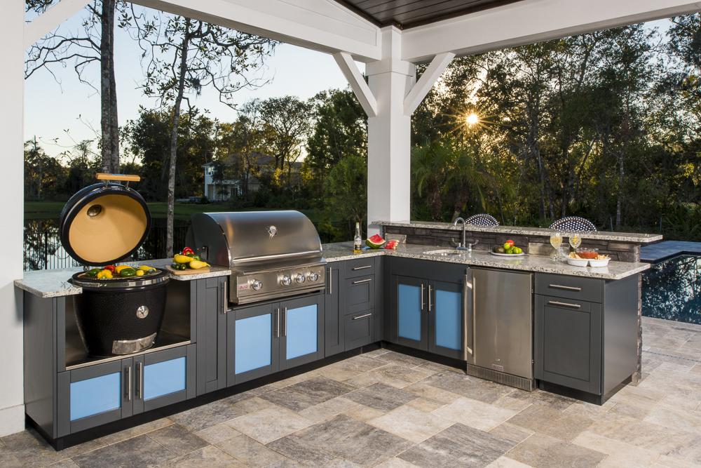 L-Shaped Outdoor Kitchen Design Inspiration | Danver on Backyard Kitchen Design id=87173