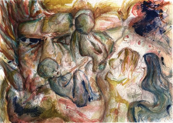 """Conversion"" • watercolor & graphite on paper, 9x12"" 🎨 by Dan Victor"