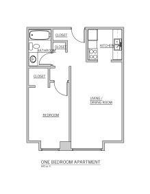 1BR Floor Plan (A)
