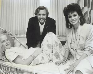 Danny Whitley with John Schneider and Marie Osmond.