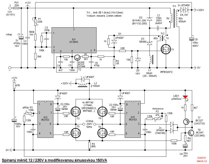 5000w power inverter schematic diagram  complete wiring