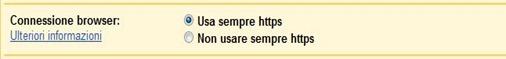 Impostazioni - Generali - HTTPS