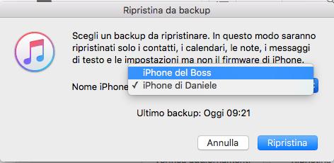 iTunes-selezione vecchio-backup