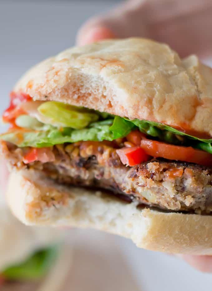 Receta Hamburguesa Vegetariana via danzadefogones.com