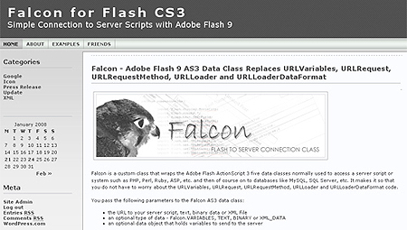 Falcon - Adobe Flash 9 AS3 Data Class Replaces URLVariables, URLRequest, URLRequestMethod, URLLoader and URLLoaderDataFormat