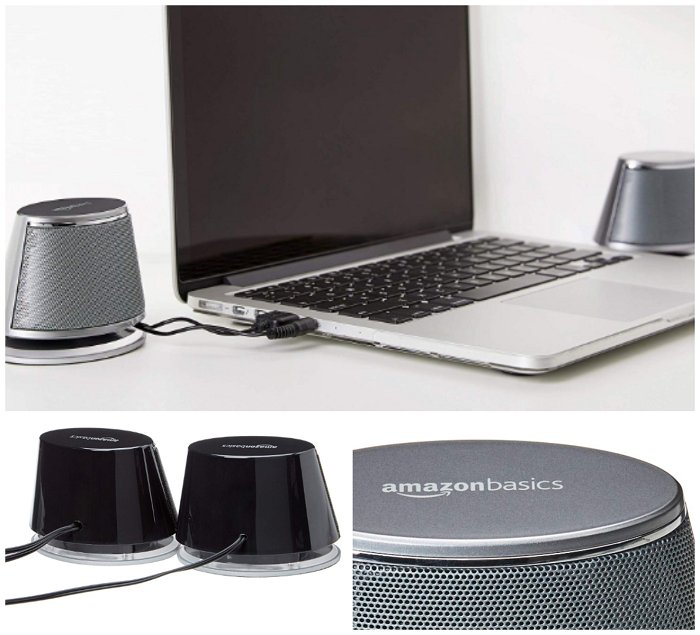 AmazonBasics USB-Powered PC Computer Speakers with Dynamic Sound