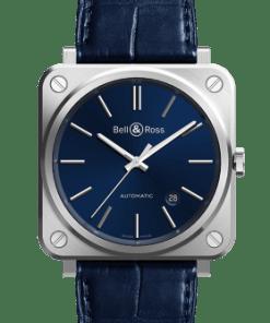 BR S-92 BLUE STEEL Bell & Ross Luxury Watch sold by DaOro Jewelry