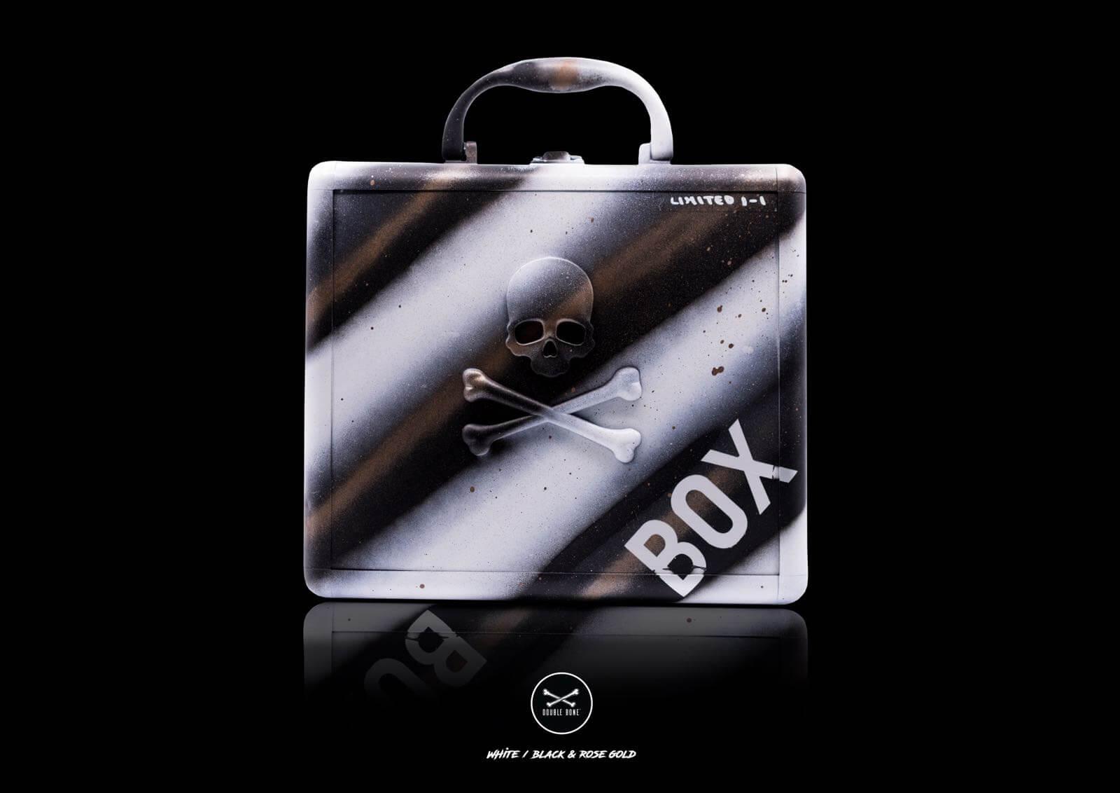 Aluminum Bracelet Case 8 Slots Black and White (1-1)